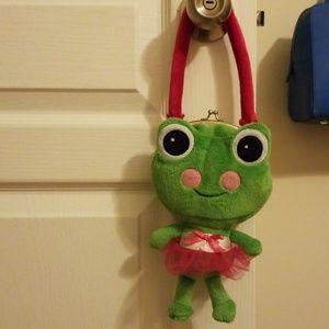 Girl's Frog Purse 🐸 ballerina frog. Roomy!